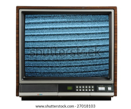 Vintage television isolated on a white background