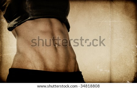 Vintage Texture - Bodybuilder - stock photo