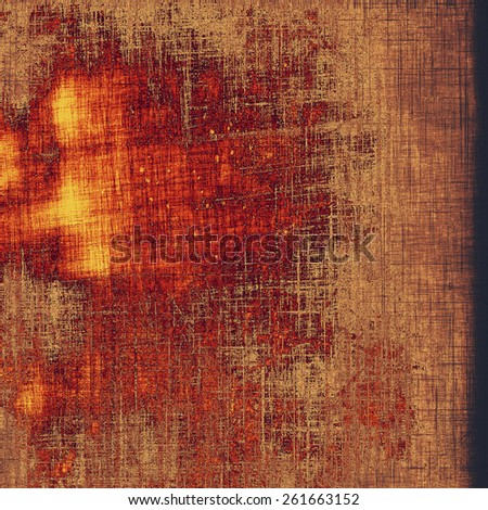 Vintage texture for background. With different color patterns: yellow (beige); brown; red (orange) - stock photo