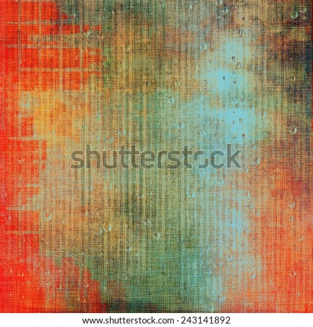 Vintage texture ideal for retro backgrounds. With different color patterns: green; brown; cyan; red (orange) - stock photo