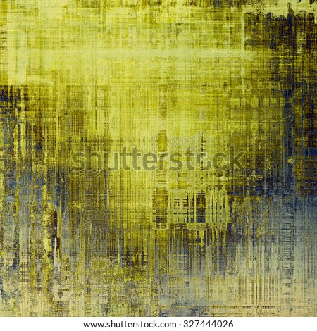 Vintage textured background. With different color patterns: yellow (beige); brown; gray; blue - stock photo
