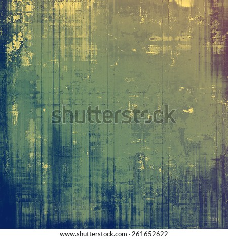 Vintage textured background. With different color patterns: yellow (beige); gray; green; blue - stock photo