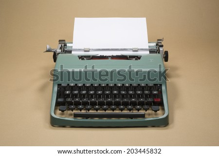 Vintage 20th Century Typewriter Horizontal Photo - stock photo