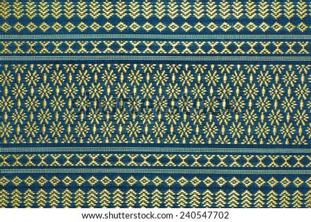 vintage traditional thai line art - stock photo