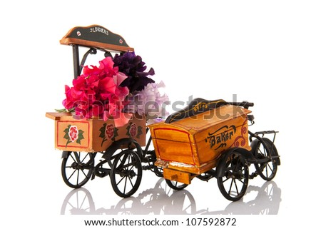 Vintage transport bikes for flowers and bread