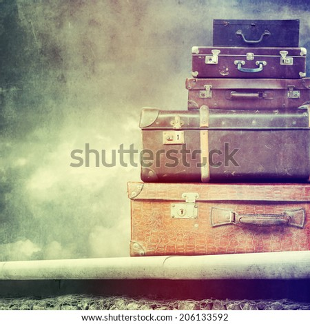 Vintage travel bags  - stock photo