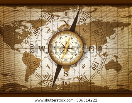 vintage travel manuscript with map and compass adventure backgroundmap elements of this image furnished