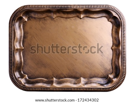 Vintage tray, isolated on white