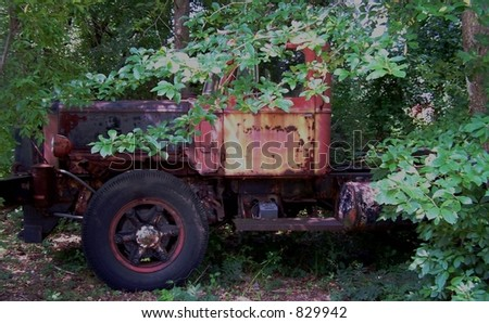 Vintage truck - stock photo