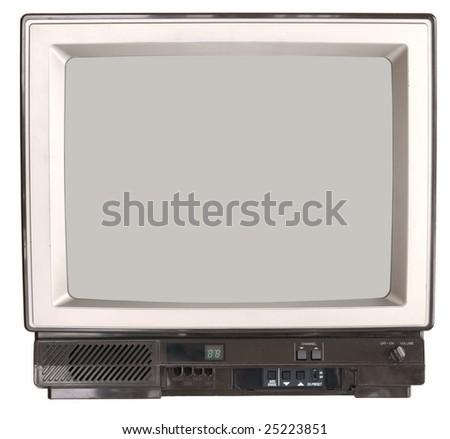 Vintage TV set - stock photo