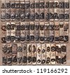 Vintage typewriter complete key face set - stock photo