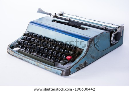 vintage typewriting machine keys Thai font - stock photo