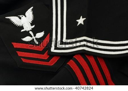 Vintage U.S. Navy Sailor's Insignia - stock photo