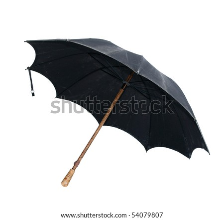 vintage umbrella isolated