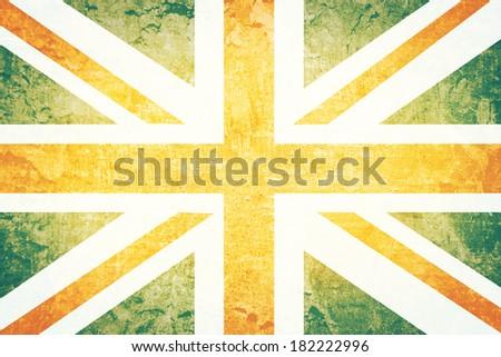 Vintage United kingdom flag grunge background  - stock photo