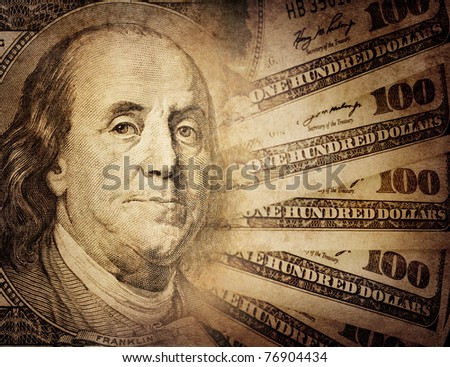 vintage US dollar - stock photo