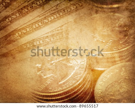 vintage US dollar  background - stock photo