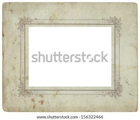 Vintage used photo frame - circa 1900 - perfect in detail - isolated on white - stock photo