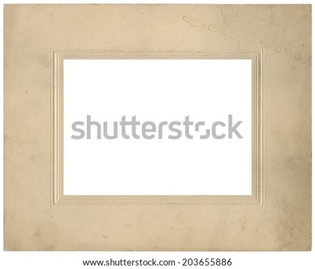Vintage used photo frame - circa 1910 - perfect in detail - isolated on white - stock photo