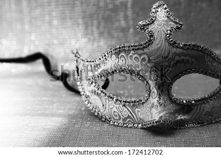 Vintage venetian carnival mask  - stock photo