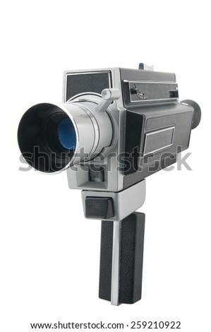 Vintage video camera - stock photo