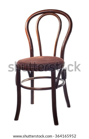 Vintage Viennese chair isolated on white background - stock photo