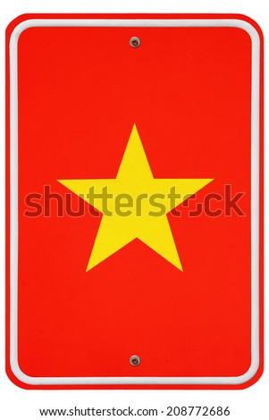 Vintage Vietnam metal sign - stock photo