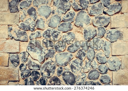 vintage wall closeup for use as background - stock photo