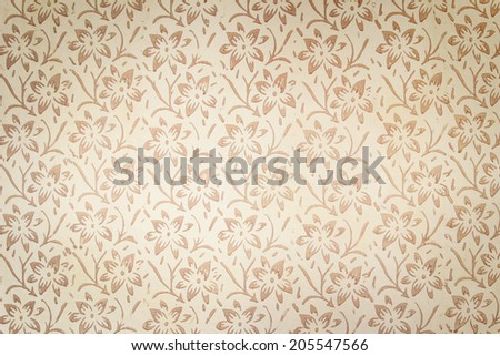 Vintage wall High resolution old wall with retro scroll pattern - stock photo