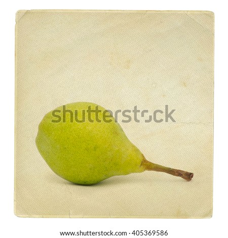 vintage wallpaper background with pear - stock photo