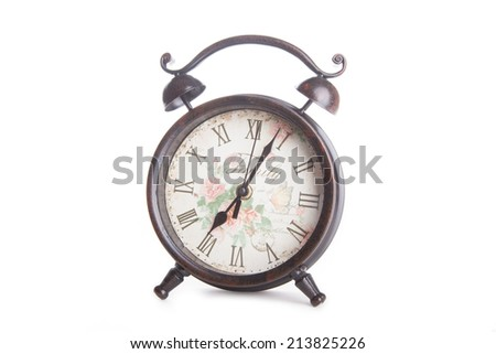 vintage watch isolated on a white background - stock photo
