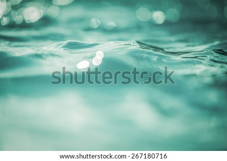 Vintage Water bokeh background - stock photo