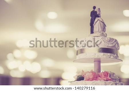 Vintage Wedding Cake - stock photo
