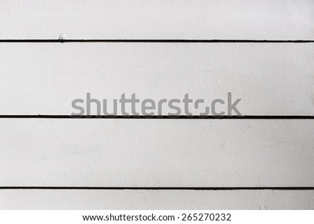 Vintage white painted wooden wall plank background - stock photo