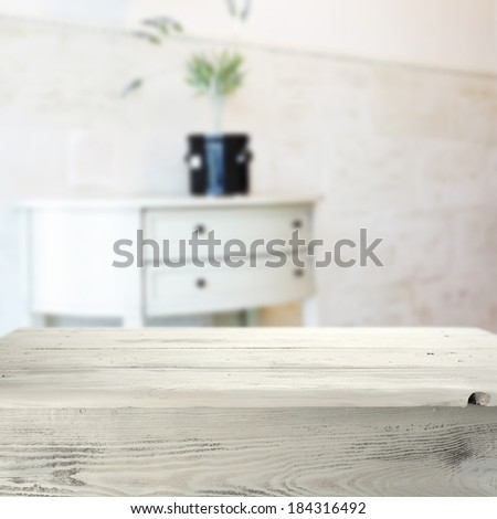 vintage, white table  - stock photo