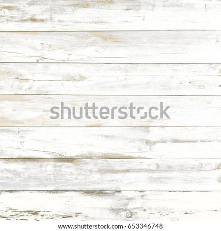 Vintage White Wood Texture Background