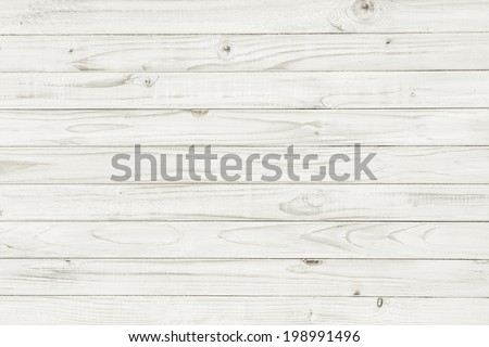 Vintage white wooden table background top view - stock photo