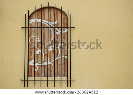 Vintage window and cages - stock photo