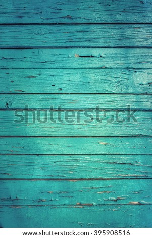 Vintage wood background with old peeling paint - stock photo