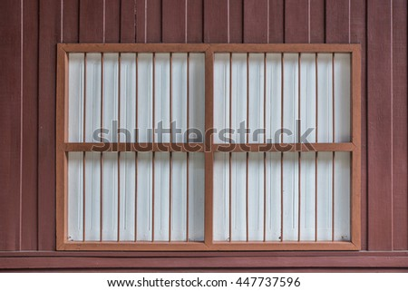vintage wood window