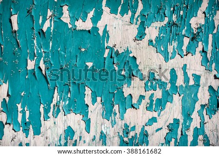 Vintage wood with peeling paint.