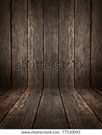 vintage wooden interior with artistic shadows added