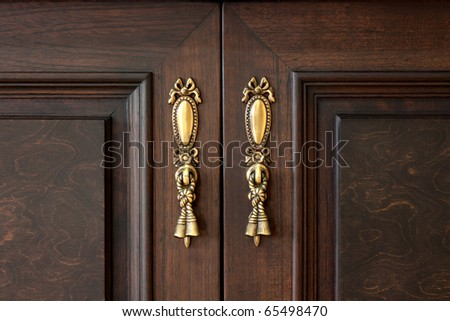 vintage wooden old door - stock photo