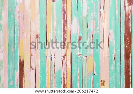 vintage wooden wall background - stock photo