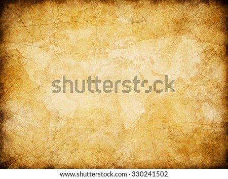 vintage world map background stylization - stock photo
