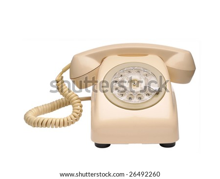 Vintange phone - stock photo