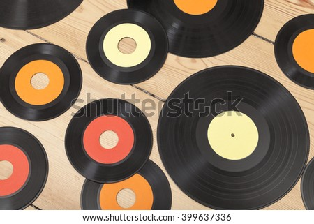 Vinyl background - stock photo