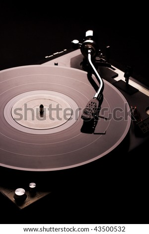 Vinyl disk player - stock photo