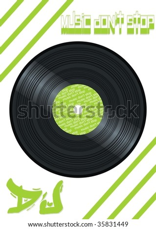 vinyl (raster version) - stock photo