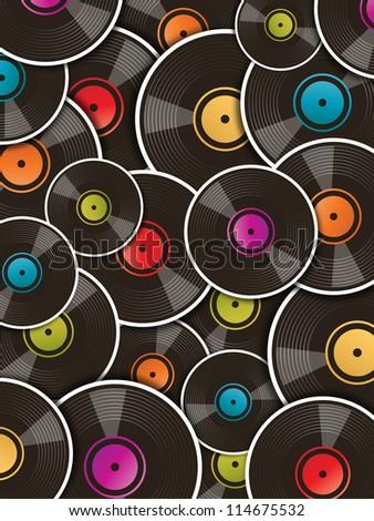 vinyl record background - stock photo